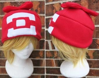 Sun and Moon Pokemon Trainer Female or Girl Version Hat  - Fleece Hat Adult, Teen, Kid - A winter, nerdy, geekery gift!