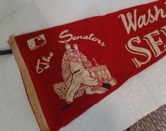 Very old Washington Senators baseball penant