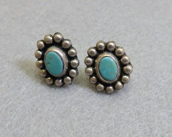 Gorgeous Native American Turquoise Pierced Earrings