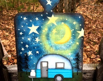 camping wood sign, happy camper sign, camper decor, summer camp wood sign,gift mom gift, vintage camper sign, nature, hand painted, wood
