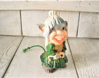 Vintage leprechaun figurine troll gnome Japanese souvenir St Patricks Day