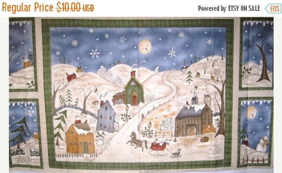 Too Many Men Fabric Panel DSN 22675 by Jacqueline Paton for Red Rooster 100 Percent Cotton Quilt Craft Apparel Christmas Holiday