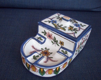 Porcelain Ashray with Lid, FC Constancia, Made in Portugal