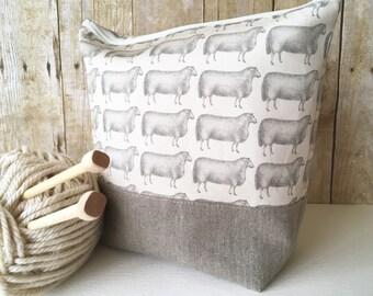 Sheep No. 4 XL Knitting Project Bag