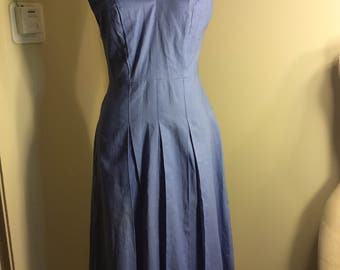 1940s 1950s Vintage Deadstock Chambray Sundress