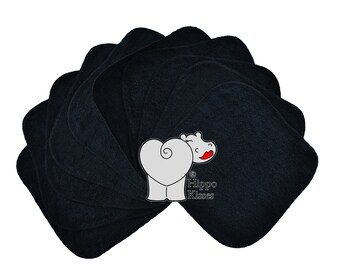 Baby Washcloths Black 10 Pack