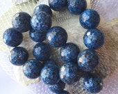 CLEARANCE NEW Large Blue Agate Beads 18 mm 11 Beads Multifaceted
