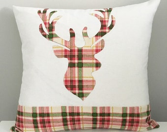 FREE US SHIPPING! Decorative Pillow Cover, Deer Pillows, Holiday Pillow, Throw Pillow, Available In Different Sizes