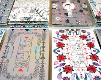 Choose any Three Postcard Books