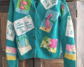Lilly Pulitzer Tropical Postcard Cardigan Sweater Size Small. Collectible & Cute
