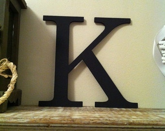 Painted Wooden Letter - Large K, Times Roman Font, 40cm high, 16 inch, any colour, wall letter, wall decor, 18mm