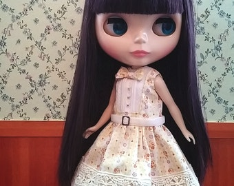 CottonCandyWorkshop Blythe Dress, yellow flowery lace Dress