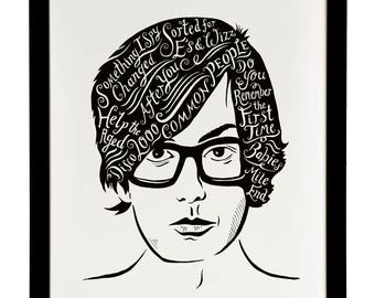 Jarvis Cocker, British Musician print