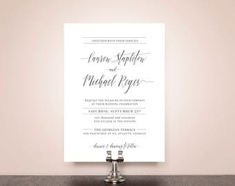 Polished Script Wedding Invitation Suite