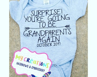 Pregnancy Announcement Shirt Suprise You're Going to be Grandparents