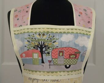 Womens Aprons-On the Road Again Camping Retro-Style Apron