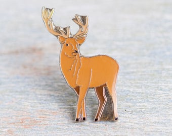 Stag Badge - Deer with Antlers Lapel pin