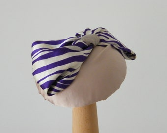 summer cocktail hat / statement hat / off white hat / pastel summer hat / spring hat / Kate Middleton hat