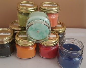 Candles for St. Chris Handmade 8oz Wood Wick Candles CHOOSE YOUR SCENT(S)