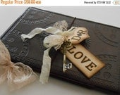 10% OFF SALE Leather Wedding Guest Book / Guest Books / Rustic Wedding Guest Book / Wedding Wishes Book / Sign In Book / Wedding Decorations