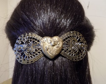 Large Barrette For Thick Hair/ Womans Gift/Old Fashion