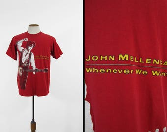 Vintage John Mellencamp T-shirt 1990 Tour Shirt Whenever We Wanted - Size Medium