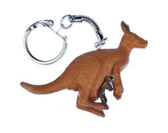 Kangaroo family KeyNecklaces Miniblings Necklace Key Ring Australia