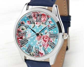 Roses Watch | Watches for Women | Ladies Watch | Womens Watch | Vintage Style Watch | Girlfriend Gift | Unique Gifts For Her | Free Shipping