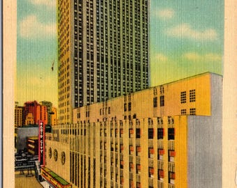 Radio City Music Hall, New York City, New York - Linen Postcard - Postcard - Unused (LL)