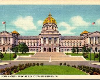 Harrisburg, Pennsylvania, State Capitol, New Steps - Vintage Postcard - Postcard - Unused (FFF)