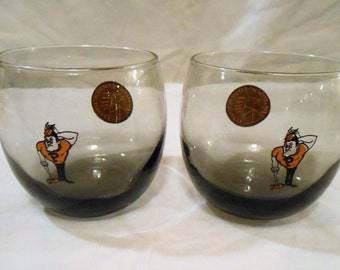 Mid Century Modern Prudue Boilermakers Roly Poly Glasses
