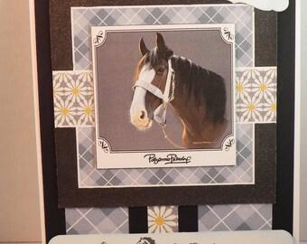 Pollyanna Pickering Horse Birthday card