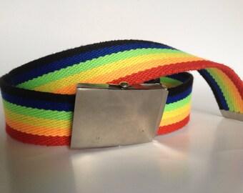 1980's Style Rainbow Belt