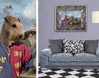 Lakeland Terrier Art CANVAS Print Fine Artwork of Nobility Dogs Dog Portrait Dog Painting Dog Art Dog Print