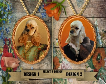 American Cocker Spaniel Jewelry - Pendant - Brooch  – Dog Jewelry -Dog Jewellery – Dog Pendant – Dog Brooch by Nobility Dogs