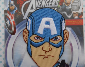 Captain America Avengers Marvel Iron on Applique Embroidered Thermo-Adhesive Patch