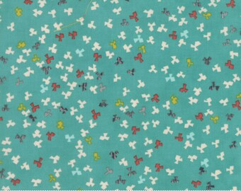 Ninja Cookies cotton teal fabric by Jenn Ski for Moda fabric 30545 18
