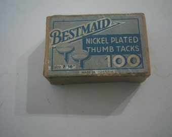 Vintage Thumb tacks box  Bestmaid Box