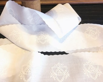 """FREE SHIPPING - 2  5/8"""" wide Swiss Heirloom Insertion - Trinity Motif  - White"""