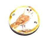 Ceramic Bracelet Bar Barn Owl Handmade Stoneware Pottery