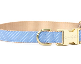 Crew LaLa™ Blue & White Pinstripe Dog Collar