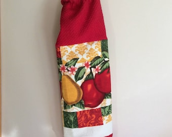 Plastic Grocery Bag Holder - Apples - Pears - Fruit - Shopping Bag Dispenser