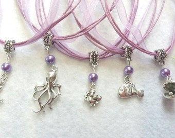 10 Necklaces Party Favors. Inspired by Mermaid
