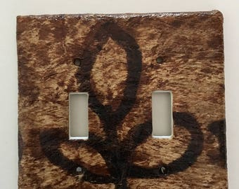 Genuine Tapa Double Light Switch Plate