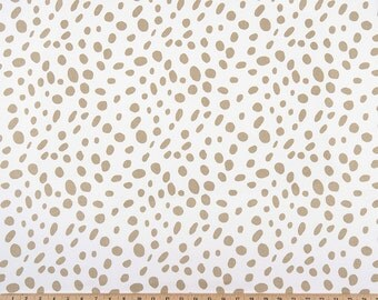 Athena Gold Dalmatian Spots Curtains. Pair of 2 Drapery Panels. Bedroom Window Treatments. Gold Polka Dots. Gold Curtains.