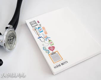 Personalized Notepad/ Nurse Gift/ Doctor Gift/ Medical Notepad