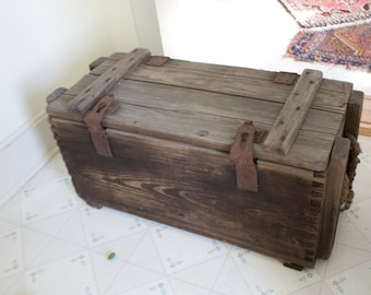 Ammunition Crate Ammo Crate Vintage Ammo Crate Ammunition For Cannon Crate