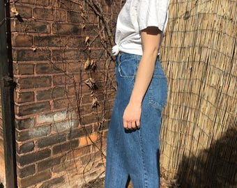 vintage 90's high waist jeans w 26 / 27 - relaxed tapered leg