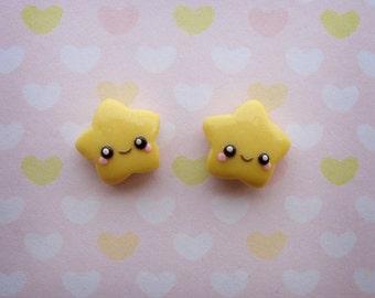 Lucky Stars stud earrings - Hand-sculpted!