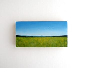 Field Oil Painting - 3 x 6